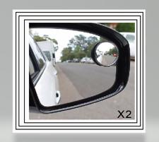 """2 x Blind Spot Specchio Adesivo rotonda 2"""" pollici Easy Fit Ampio angolo di visualizzazione Auto Van"""