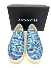 COACH Men's KEITH HARING C117 WITH HULA DANCE PRINT Casual Shoe Size 10M