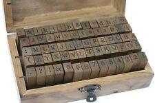 Stempel Set Alphabet 70-teilig Design 1 Buchstaben Zahlen Symbol