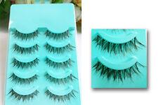 Cross False Eyelashes Daily Handmade Fake Eye Lashes Makeup Beauty Cosmetic Tool