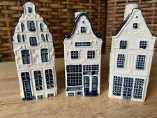 Blue Delfts Houses KLM by BOLS n. 8, 10, 12 EUC A2G