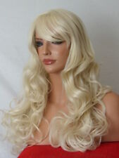 Blonde Hair Fashion long natural look full head wavy curly Ladies adult Wig B5