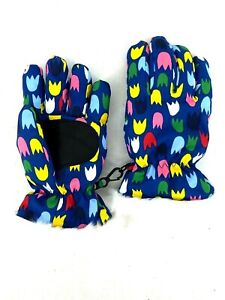 Hanna Andersson Kids Snow Mittens Girls Gloves Fur Size Medium M