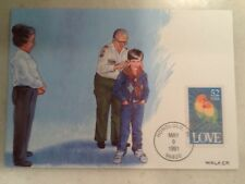 52 Cent Love Bird Stamp 1991 FDC First Day Cover 5/9/91 Honolulu HI Postmark