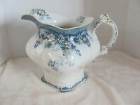Alfred Meakin-Richmond Blue-Flowers,Scrolls,Gold Accents - 96 oz Pitcher