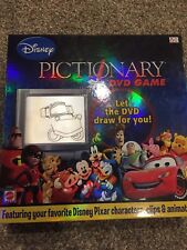 MATTEL DISNEY- PICTIONARY DVD GAME Board Game Kids Children Family Complete EUC