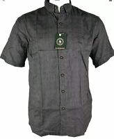 G.H. Bass & Co. Men's Short Sleeve Woven Shirt, XL, Forged Iron