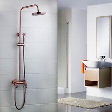 8''salle de bain murale antique en cuivre baignoire douche robinet tête Set mixe