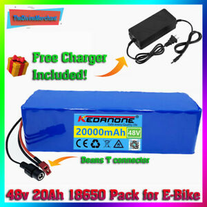Li-ion Battery 48v 20ah Volt Rechargeable Bicycle 1000w E Bike Electric Li-ion