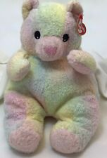"Bearbaby Pillow Pals Pastel Tye Dye Rattle Vintage Ty Plush 12"" Toy Lovey"