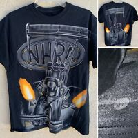 """Vintage NHRA Big Logo All Over Print T-Shirt 90s Style M 20"""" Pit To Pit"""