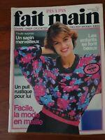 Revue magazine FAIT MAIN PAS A PAS tricot couture crochet vintage Novembre 1985