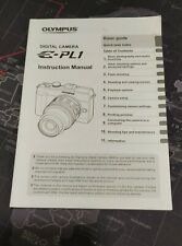 Manual de instrucciones Olympus E-PL1 Original Inglés
