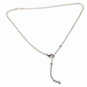Authentic! Bvlgari Bulgari Cicladi 18k White Gold Link Chain Necklace