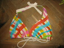 Aeropostale Multi-color String Bikini Halter Top Women Size Medium 6 to 8