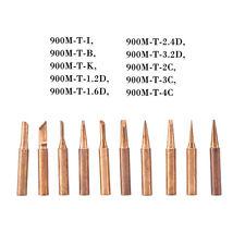 10Pcs Copper 900M-T Solder Tips Soldering Bits Welding Head Lead Free HighQ