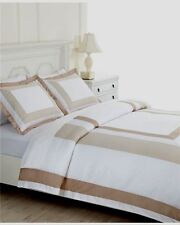 $100 Martha Stewart Thompson Square Tan/White Core 2-Piece Standard Pillow Shams