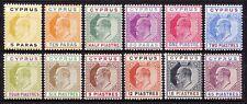 Cyprus 1904-10 EVII complete set, fine mint cv £350