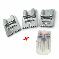 3 Pcs Double Twin Needles Pins (3 Size Mixed 2.0/90 3.0/90 4.0/90) With 3Pc Q4A3