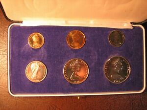New Zealand - 1968 - Annual Proof Coin Set - 1c - 50c