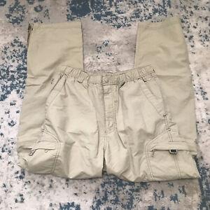 REI Womens Convertible Nylon Hiking UPF30+ Outdoors Tan Pants Size XL