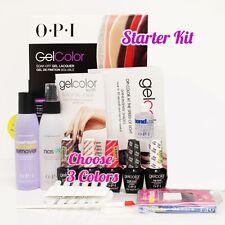 OPI GelColor Soak Off Gel Starter Intro Icons Kit: Base Top+3 O.P.I Color Set+..