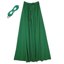 "60"" Adult Green Superhero Cape & Mask Costume Set ~ HALLOWEEN COSTUME PARTY"