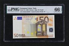 2002 European Union / Italy 50 Euro Pick#17s PMG 66 EPQ Gem UNC