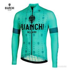 NEW 2021 Bianchi Milano PERTICARA Long Sleeve Cycling Jersey : CELESTE
