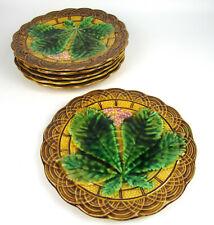6 Villeroy & Boch Steingut Teller Reliefteller Jugendstil V&B Art Nouveau Plates