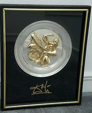 "Sterling Silver .925 ""Leda and the Swan"" Dali Sculptural Plate Limited Edition"