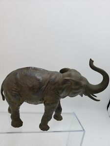 JB Jennings Brothers Bronze Metal Trunk Up Vintage Elephant figure ⭐ SHIPS QUICK