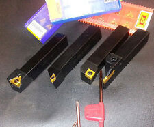 """INDEXABLE LATHE TOOL HOLDERS CARBIDE INSERTS MINI LATHE BENCH TOP LATHE 1/2 """""""