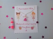 Personalised Party Gift, Fairy Necklace Fairy Dust, Party Bag Filler, Pink Fairy