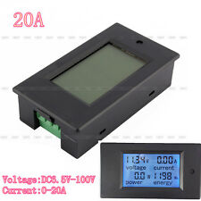 DC 4 in 1 20A LCD Combo meter Voltage current KWh watt Car battery pannel power~