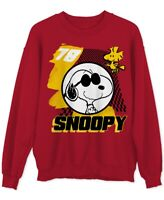 Peanuts Mens Sweater Red Size Medium M Crewneck Snoopy Pullover Graphic $45 #115