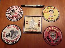 Lot of 5 Vintage biker Patches