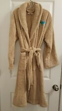 Terry Cloth Robe Unisex 100% Turkish Cotton Light Brown Size XS/P