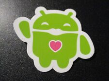 """ANDROID DROID Andy bot HEART robot logo Sticker 2"""" Google andrew bell"""