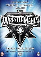 WWE WRESTLEMANIA 20 XX WRESTLING GAMES 2004 Brand New and Sealed UK Region 2 DVD