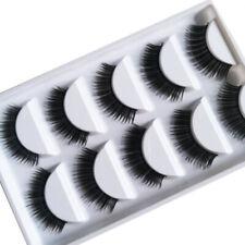 💙HOT 5Pair 3D Mink False Eyelashes Wispy Cross Long Thick Soft Fake Eye Lashes