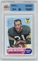 PACKERS Jim Taylor signed card 1968 Topps #160 AUTO JSA Beckett Slab Autographed