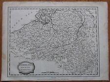 Blomfield: Map of the Netherlands Belgium - 1807