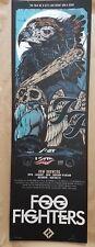 Foo Fighters Brisbane 2018 Silkscreen Poster Art Rhys Cooper Ltd Ed 350  S/N