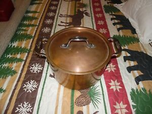 Pre-Owned Vintage 3 qt. All-Clad Copper Coated Saucepan Or Pot With Lid