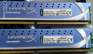 8GB DDR3 1600 Kingston HyperX Genesis KHX1600C9D3K2/8GX (2 x 4GB Kit) RAM Memory