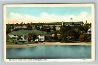 Charlevoix MI, Belvedere Hotel And Casino, Vintage Michigan Postcard