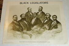 5 ANTI-SLAVERY CIVIL RIGHTS COMMEMORATIVE POSTERS illus. w/ historical images