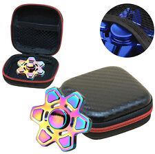 Gift Für Fidget Hand Spinner Triangle Finger Toy Focus ADHS Autism Bag Box Carry