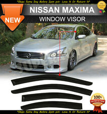 For 2009-2015 Nissan Maxima Smoked Acrylic Window Visor Deflectors Rain Guards